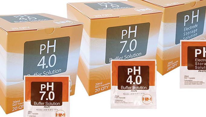 Soluciones calibración para medidores de pH y EC