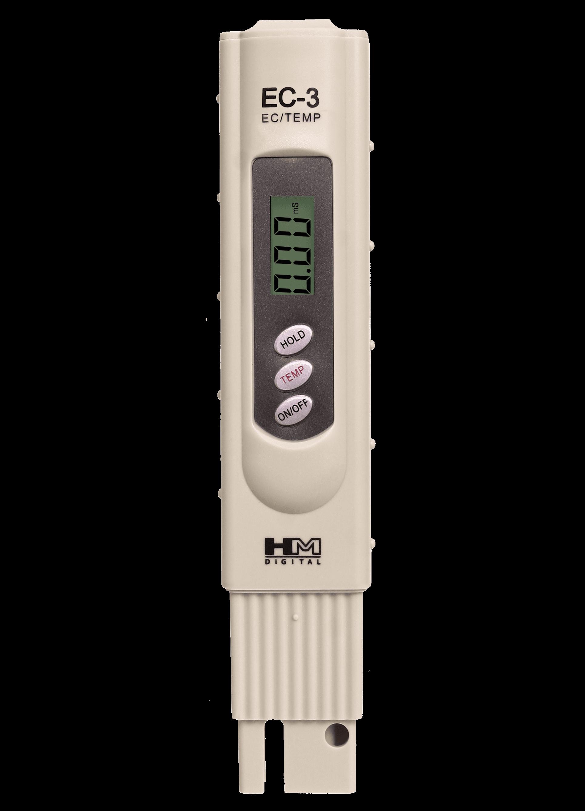Medidor de EC (conductímetro) EC3 con temperatura
