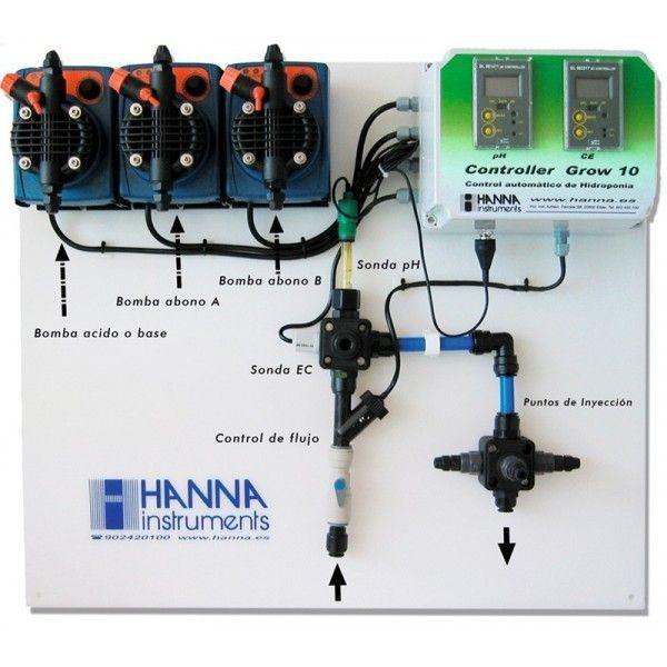 Controlador Hanna Grow 10 de pH y EC