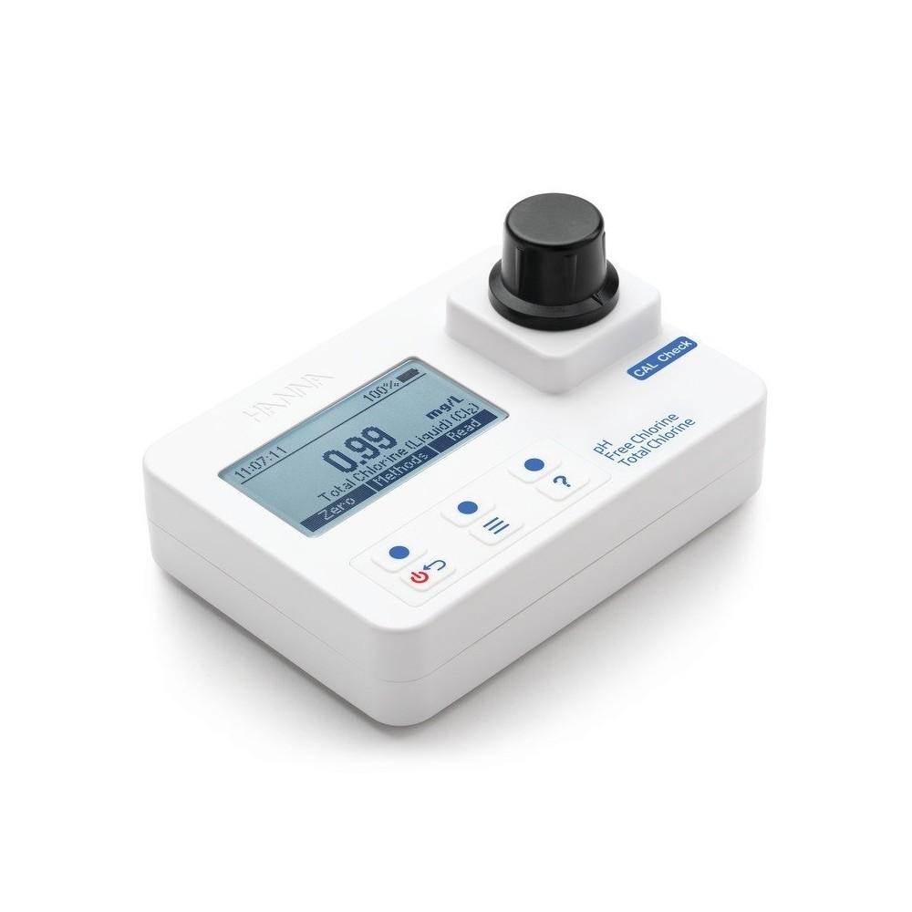 Fotómetro portátilMedidor de cloro libre, cloro total y pH HI 97710