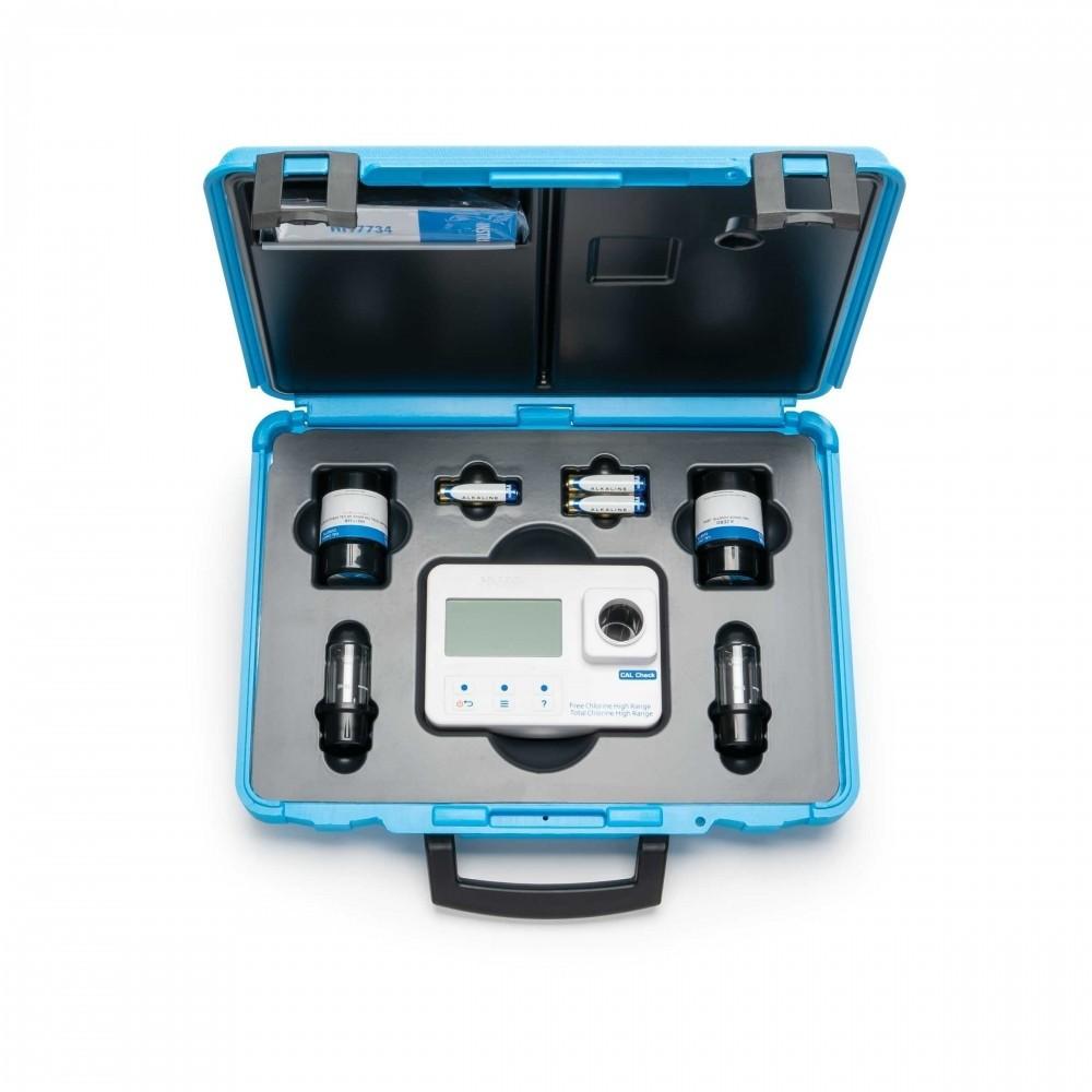 Medidor de pH cloro libre y cloro total con MALETÍN. Fotómetro HI 96710C.