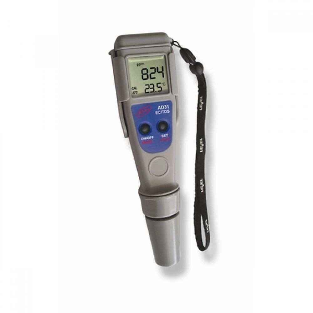 Medidor de Conductividad EC/TDS y Temperatura Adwa Waterproof AD31