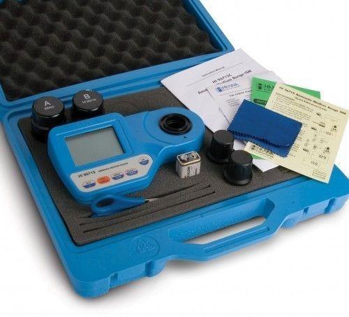 Medidor de pH cloro libre y cloro total con MALETÍN. Fotómetro HI 96710C