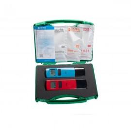 Medidor pH y conductividad en agua de riego en maletin (HI98107+HI98304 de HANNA) (Default)