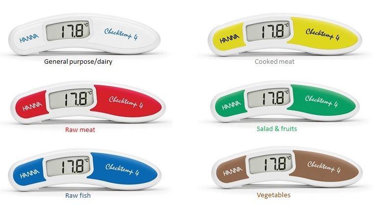 Termómetros de cocina en 6 colores APPCC